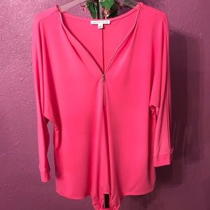 Tops - NWOT. PRETTY PINK BLOUSE M